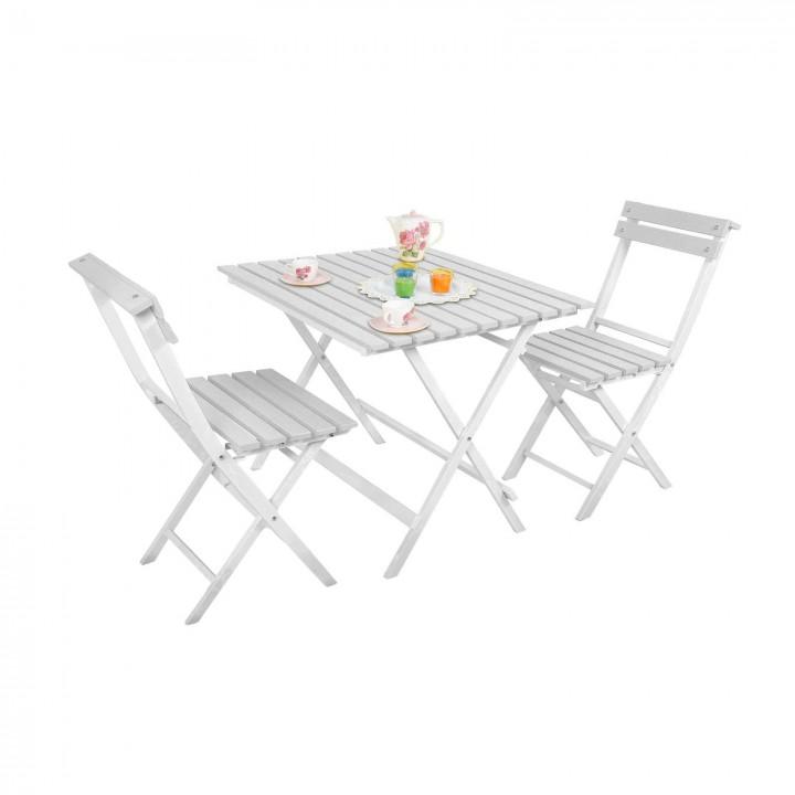 Prado Adaliss Bistro Bahçe Balkon Masa Sandalye Takımı Beyaz