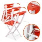 Prado Adaliss Bistro Bahçe Balkon Masa Sandalye Takımı Kırmızı