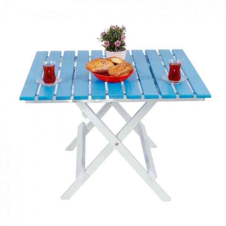 Prado Adaliss Katlanır Bahçe Balkon Masası, Mini Masa Mavi