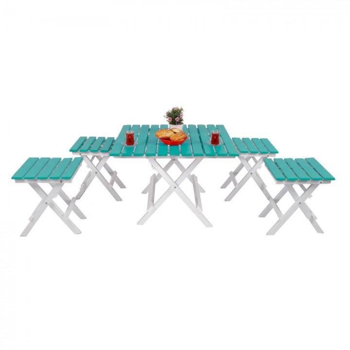 Prado Adaliss Katlanır Bahçe Balkon Masası Mini Masa Takımı Yeşil