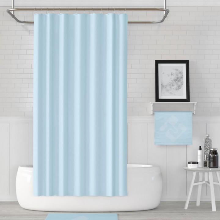 Prado Banyo Duş Perdesi Mavi 180x200cm