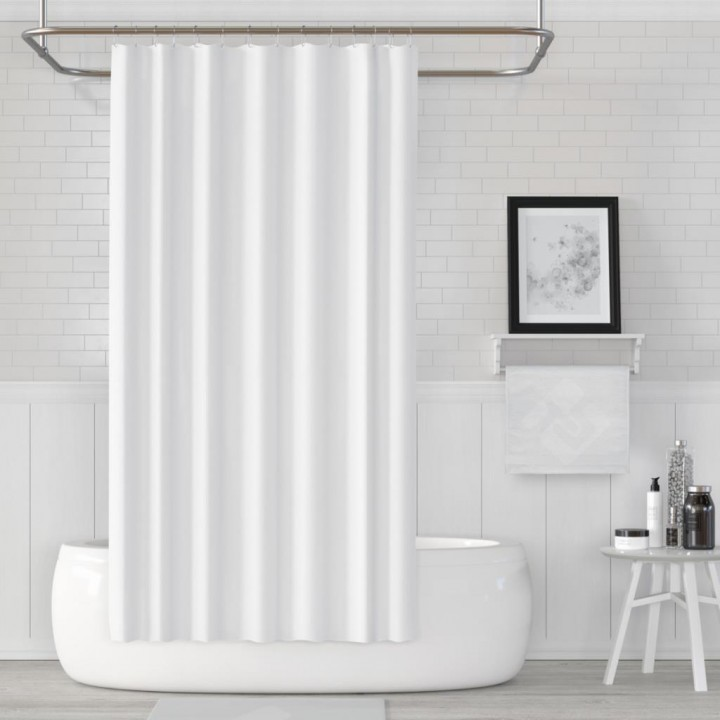 Prado Banyo Duş Perdesi Beyaz 180x200cm
