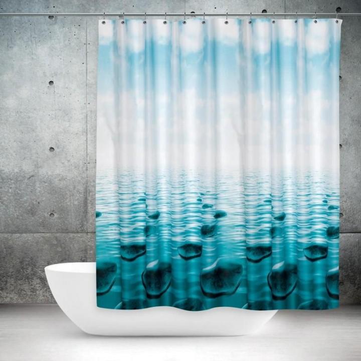 Stone Banyo Perdesi, Duş Perdesi Çift Kanatlı 2x120x200cm