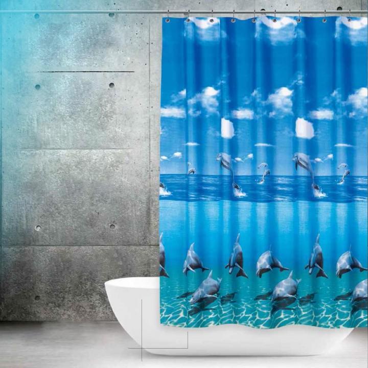 Prado Dolphin Banyo Duş Perdesi Çift Kanatlı 2x120x200cm