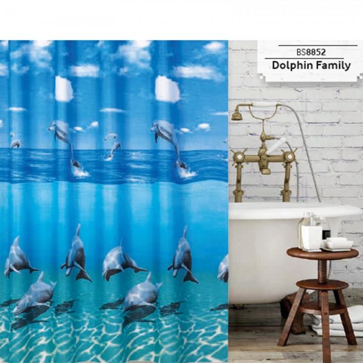 Prado Dolphin Banyo Duş Perdesi 180x200cm