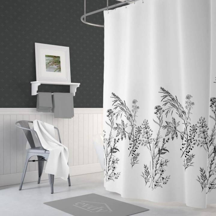 Funda Banyo Duş Perdesi Çift Kanatlı 2x120x200cm