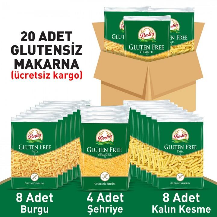 Beşler Glutensiz Makarna Paketi 20'li Koli
