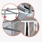Prado 2 Bölmeli Çelik Profilli Bez Dolap, Bez Ayakkabılık