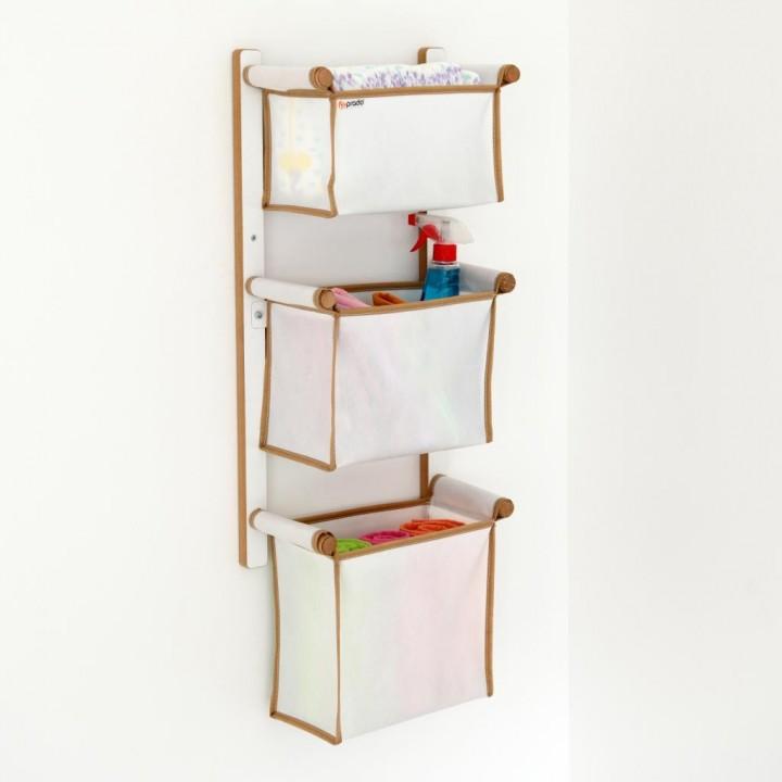Prado Ahşap Duvar Tipi Sepet Düzenleyici Organizer 3lü Set