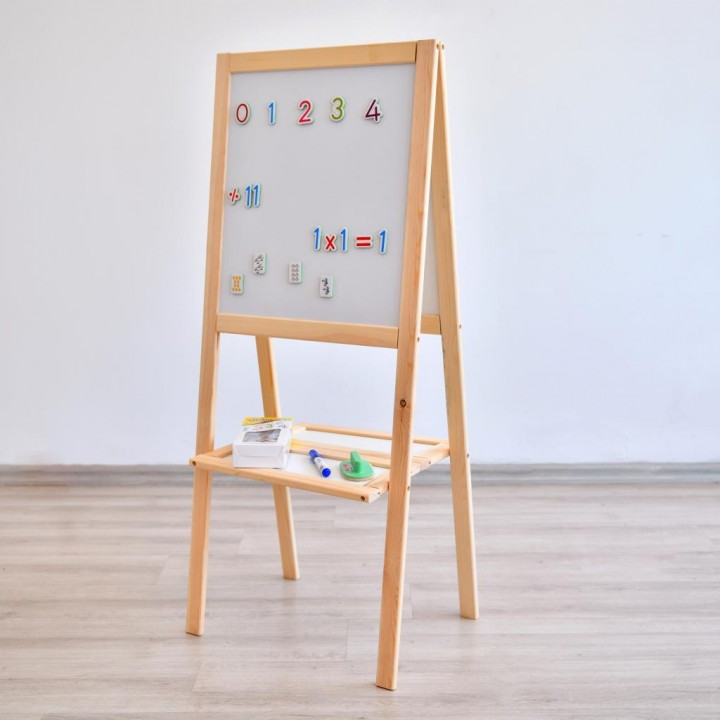 Prado Ayaklı Yazı Tahtası 50x120cm Magnet + Kalm + Silgi HEDİYELİ