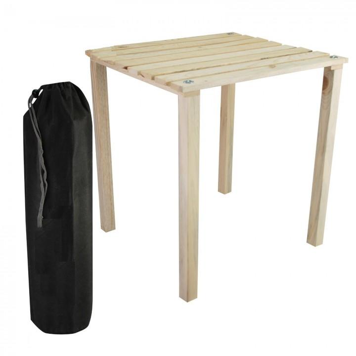 Prado Çantalı Ahşap Kamp Piknik Masası 58x50cm