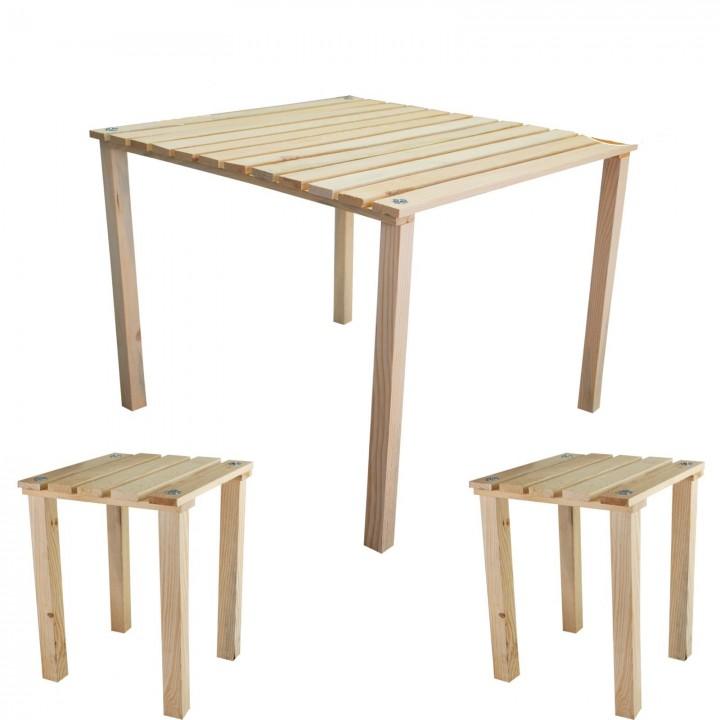 Prado Çantalı Küçük Kamp Masası + 2 ADET Tabure
