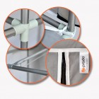 Prado Easy Çift Yandan Raflı Çelik Profil Bez Dolap Tema İstanbul