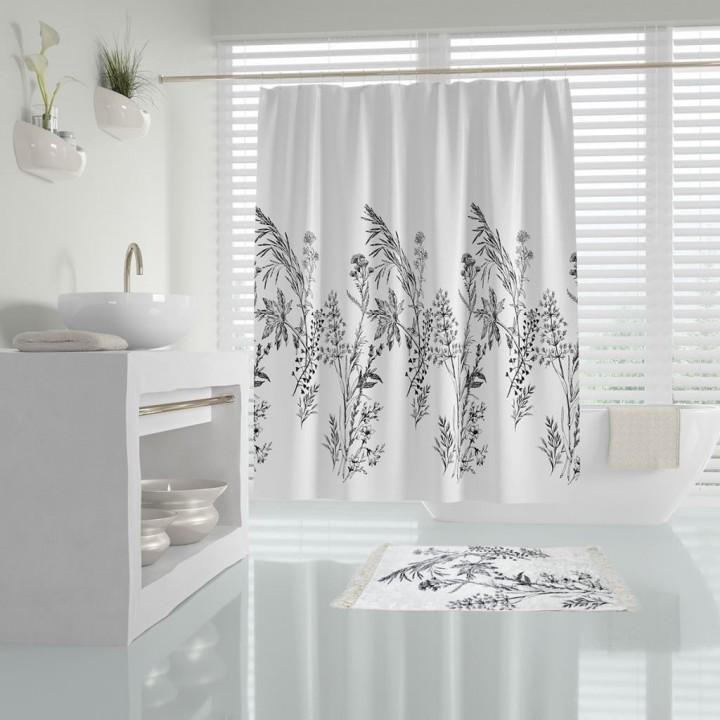 Prado Funda Banyo Perdesi Duş Perdesi Paspas Takımı