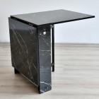 Prado Kelebek Masa Sandalye Takımı Mermer SİYAH