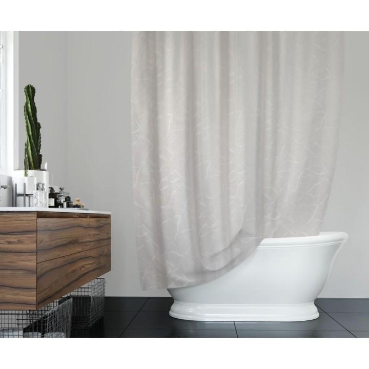 Prado Mermer Desenli Duş Banyo Perdesi 180x200cm