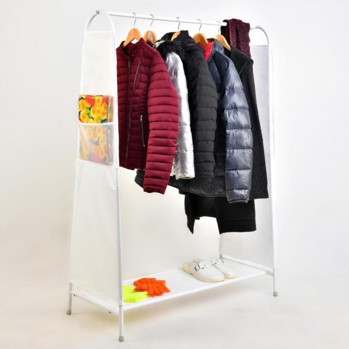Prado Metal Ayaklı Elbise Askısı, Konfeksiyon Askısı BEYAZ