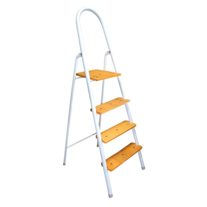 Prado Portatif 3 + 1 Ahşap Basamaklı Ev Tipi Katlanır Merdiven