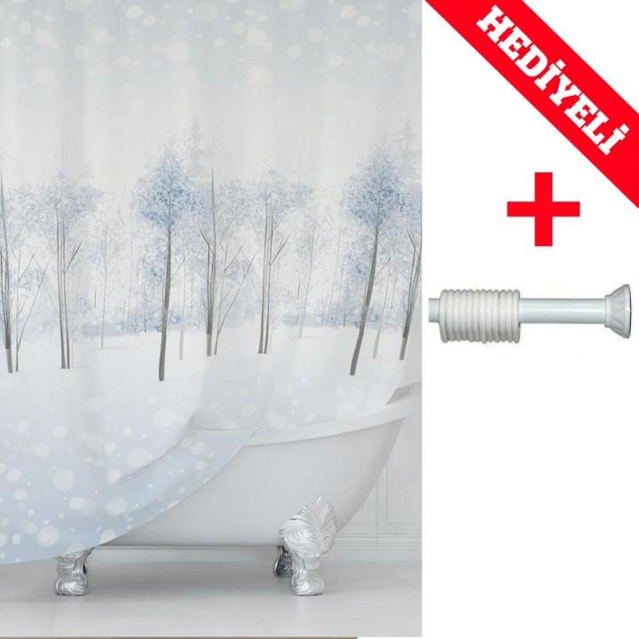 Prado Snow Banyo Duş Perdesi 180x200cm ASKI HEDİYELİ