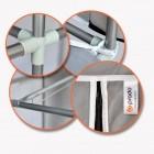 Prado Stark Xtra Çift Yandan Raflı Çelik Profilli Bez Dolap