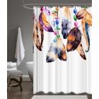 Prado Colored Feathers Dijital Baskı Banyo Perdesi 180x200cm ASKI HEDİYELİ
